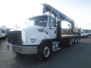 Used 2013 Freightliner 114SD 24.5 Feet Flat Deck Diesel With Air Brakes Crane for sale in Burnaby, BC