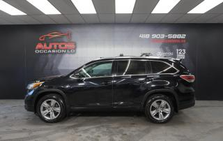 Used 2015 Toyota Highlander LIMITED AWD + CUIR TOIT GPS NAV + CAMERA AUDIO JBL for sale in Lévis, QC