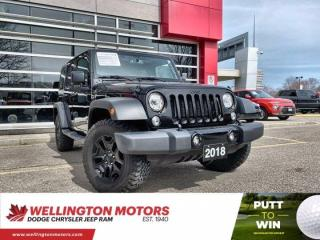 Used 2018 Jeep Wrangler JK Unlimited Willys Wheeler / New Rear Brakes & Rotors !! for sale in Guelph, ON