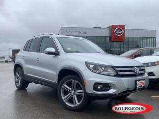 Used 2017 Volkswagen Tiguan Highline LOW KM'S, LEATHER, MOONROOF, HEATED SEATS for sale in Midland, ON