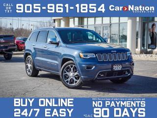 Used 2020 Jeep Grand Cherokee Overland 4x4| COMPANY DEMO| SOLD| SOLD| SOLD| for sale in Burlington, ON