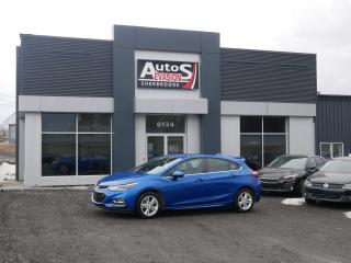 Used 2018 Chevrolet Cruze LT HATCHBACK TURBO + INSPECTÉ + BAS KILO for sale in Sherbrooke, QC