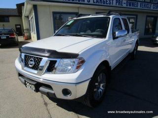 Used 2010 Nissan Frontier GREAT VALUE LE EDITION 5 PASSENGER 4.0L - V6.. 4X4.. CREW-CAB.. SHORTY.. LEATHER.. HEATED SEATS.. POWER SUNROOF.. ROOF-RACKS.. BLUETOOTH.. for sale in Bradford, ON