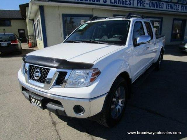 2010 Nissan Frontier GREAT VALUE LE EDITION 5 PASSENGER 4.0L - V6.. 4X4.. CREW-CAB.. SHORTY.. LEATHER.. HEATED SEATS.. POWER SUNROOF.. ROOF-RACKS.. BLUETOOTH..