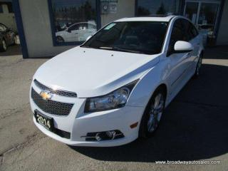 Used 2014 Chevrolet Cruze LOADED LTZ-RS EDITION 5 PASSENGER 1.4L - TURBO.. LEATHER.. HEATED SEATS.. POWER SUNROOF.. BACK-UP CAMERA.. BLUETOOTH SYSTEM.. PIONEER AUDIO.. for sale in Bradford, ON