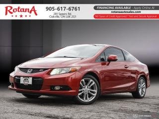 Used 2012 Honda Civic SI w/NAVI_SUNROOF_BLUETOOTH_LOW KMS for sale in Oakville, ON