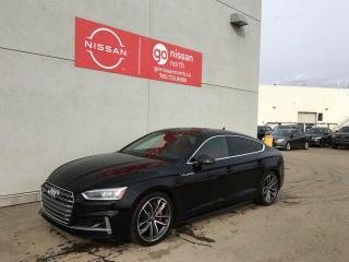 Used 2018 Audi S5 Sportback TECHNIK/WARRANTY TILL AUG 22/DYNAMIC STEERING/SPORT DIFF/HEADS UP/ADVANCED DRIVER ASSIST for sale in Edmonton, AB