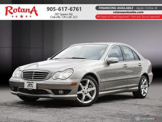 Used 2007 Mercedes-Benz C-Class C230_LEATHER_SUNROOF_CLEAN CARFAX for sale in Oakville, ON