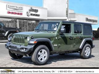New 2021 Jeep Wrangler UNLIMITED SPORT S | DUAL TOP | DIESEL for sale in Simcoe, ON