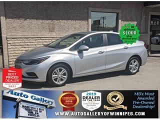 Used 2018 Chevrolet Cruze LT* Bluetooth/Reverse Camera/LOW KILOMETRES for sale in Winnipeg, MB