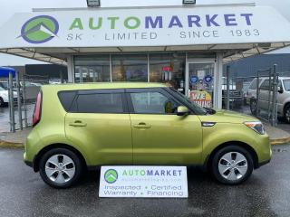 Used 2014 Kia Soul BLUETOOTH, SAT RADIO, 6 SPD. FREE BCAA & WRNTY! IN-HOUSE FINANCE! for sale in Langley, BC