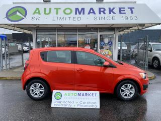 Used 2012 Chevrolet Sonic 2LS HATCH, AUTO, BLUETOOTH, FREE BCAA & WRNTY! IN HOUSE FINANCE IT! for sale in Langley, BC