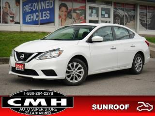 Used 2016 Nissan Sentra SV  CAM BLUETOOTH ROOF HTD-SEATS 16-AL for sale in St. Catharines, ON