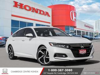 Used 2020 Honda Accord Sport 2.0T WIRELESS CHARGING | APPLE CARPLAY™ & ANDROID AUTO™ | HONDA SENSING TECHNOLOGIES for sale in Cambridge, ON