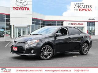 Used 2015 Toyota Corolla S TECH PKG | LEATHER | NAV for sale in Ancaster, ON