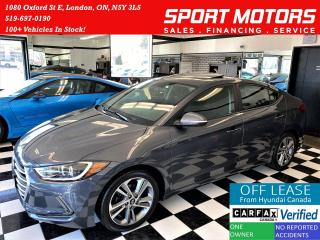 Used 2017 Hyundai Elantra GLS+ApplePlay+Sunroof+Blind Spot+ACCIDENT FREE for sale in London, ON