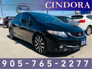 Used 2015 Honda Civic Sedan Touring, auto, leather, NAV, sunroof for sale in Caledonia, ON