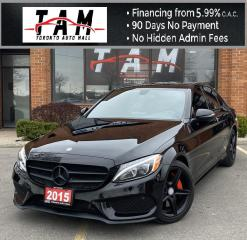 Used 2015 Mercedes-Benz C-Class C300 4MATIC NAVI Pano Sunroof Blind Spot Assist Back-Up Camera Bluetooth for sale in North York, ON