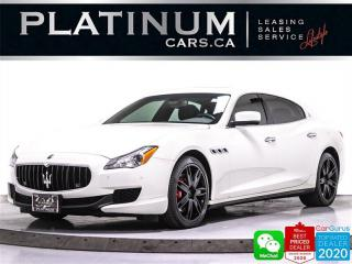 Used 2015 Maserati Quattroporte S Q4, 3.0L 404HP, AWD, NAV, CAM, SUNROOF, VENTED for sale in Toronto, ON