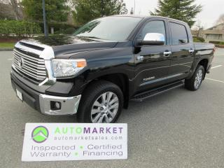 Used 2014 Toyota Tundra LIMITED 5.7L CREWMAX 4WD Loaded INSP WARR, FINANCE, BCAA MEMBERSHIP for sale in Surrey, BC