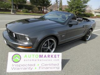 Used 2008 Ford Mustang GT PREMIUM, CONVERTIBLE, MANUAL TRANS, INSP, FINANCE, FREE WARR & BCAA MBSHP for sale in Surrey, BC