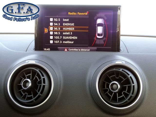 2018 Audi A3 KOMFORT, SUNROOF, LEATHER & POWER & HEATED SEATS