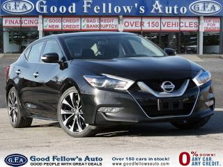 Used 2016 Nissan Maxima SR REARVIEW CAMERA, LEATHER & CLOTH SEATS, NAVI for sale in Toronto, ON