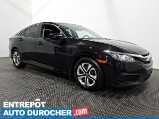 Used 2016 Honda Civic Sedan LX - Caméra de Recul - Bluetooth - Climatiseur for sale in Laval, QC