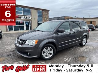 Used 2015 Dodge Grand Caravan Crew Plus   Leather   Nav   Pwr Sliders + Hatch   for sale in St Catharines, ON