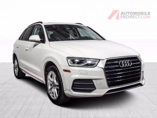Used 2017 Audi Q3 Komfort Quattro Cuir Toit Pano Sièges Chauffants for sale in Île-Perrot, QC