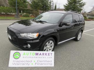 Used 2012 Mitsubishi Outlander GT S-AWC LEATHER SUNROOF NAVIGATION INSPECTED, FINANCING, WARRANTY & BCAA MBSHP for sale in Surrey, BC