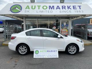 Used 2012 Mazda MAZDA3 i Touring 4-DR SKY ACTIVE FREE BCAA & WRNTY! IN HOUSE FINANCE! for sale in Langley, BC
