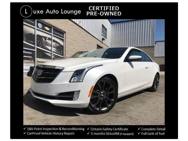 2017 Cadillac ATS Luxury AWD COUPE! AWD! CARBON BLACK PKG! SUNROOF!