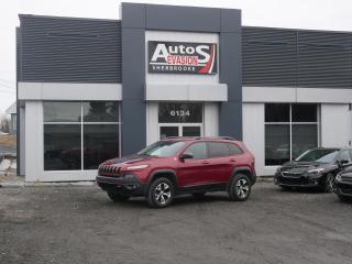 Used 2014 Jeep Cherokee 3.2L 4WD Trailhawk + TOIT + INSPECTÉ + FREINS NEUF for sale in Sherbrooke, QC