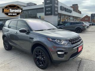 Used 2017 Land Rover Discovery Sport HSE LOADED BLACK pkg DRIVERS pkg CONVENIENCE pkg CONTRAST roof PANO GLASS roof LEATHER NAV for sale in North York, ON
