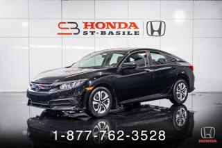 Used 2017 Honda Civic LX + A/C + CRUISE + CAMERA + WOW! for sale in St-Basile-le-Grand, QC