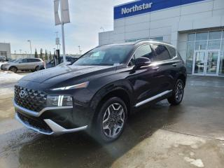 New 2021 Hyundai Santa Fe ULTIMATE: BLINDVIEW MONITOR/BLUELINK/HEATED AND COOLED SEATS/POWER LIFTGATE for sale in Edmonton, AB