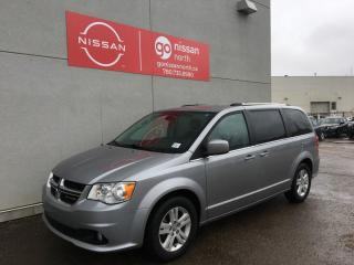 Used 2018 Dodge Grand Caravan CREW PLUS/3.6 L/BLIND SPOT/CROSS TRAFFIC/HEATED STEERING/POWER LIFTGATE for sale in Edmonton, AB