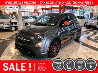 Used 2017 Fiat 500 E 500E - Accident Free / One Owner / Nav / Leather for sale in Richmond, BC