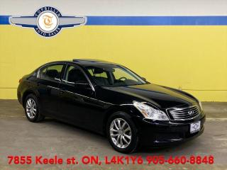 Used 2009 Infiniti G37 Luxury, Navigation, Leather, Sunroof for sale in Vaughan, ON