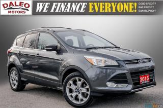 Used 2015 Ford Escape TITANIUM / BACK UP CAM / LEATHER / NAVI / PANOROOF for sale in Hamilton, ON