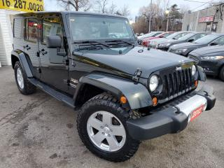 Used 2012 Jeep Wrangler Sahara/CLEAN CARFAX/NAVI/LEATHER/4X4/LOADED/ALLOYS for sale in Scarborough, ON