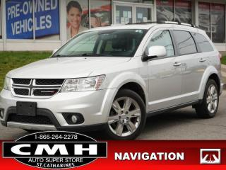 Used 2013 Dodge Journey R/T  NAV CAM DVD ROOF P/SEAT HTD-S/W 19-AL for sale in St. Catharines, ON