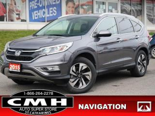 Used 2015 Honda CR-V Touring  NAV ADAP-CC ROOF LEATH P/GATE 18-AL for sale in St. Catharines, ON