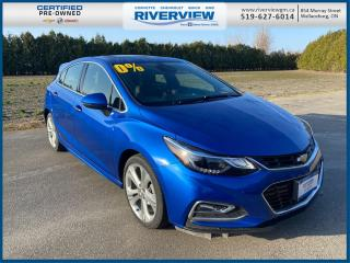 Used 2018 Chevrolet Cruze Premier Auto Low KM | Hatchback | Bluetooth | Power Sunroof | Wireless Charging | for sale in Wallaceburg, ON