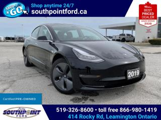 Used 2019 Tesla Model 3 Standard Range MODEL 3|NAV|LEATHER|HTD SEATS|SKYROOF for sale in Leamington, ON