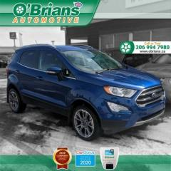 Used 2019 Ford EcoSport Titanium w/Mfg Warranty, Navigation, Leather, 4WD, Heated Seats, Backup Camera for sale in Saskatoon, SK