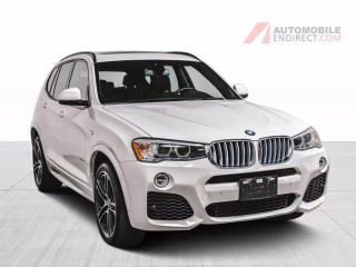 Used 2017 BMW X3 35i xDrive Cuir Toit Pano GPS Sièges Chauffants for sale in St-Hubert, QC