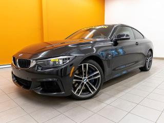 Used 2018 BMW 4 Series 440I XDRIVE AWD TOIT NAV SIÈGES CHAUF *CUIR ROUGE* for sale in Mirabel, QC