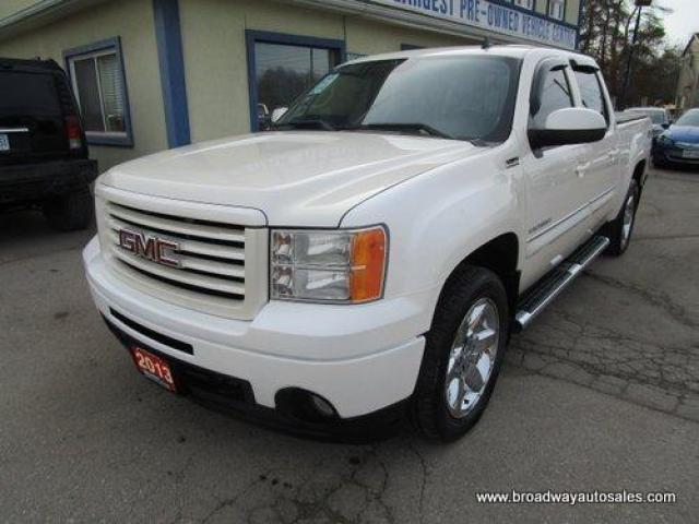 2013 GMC Sierra 1500 LOADED ALL-TERRAIN EDITION 5 PASSENGER 5.3L - V8.. 4X4.. CREW-CAB.. SHORTY.. NAVIGATION.. LEATHER.. HEATED SEATS.. POWER SUNROOF.. BACK-UP CAMERA..
